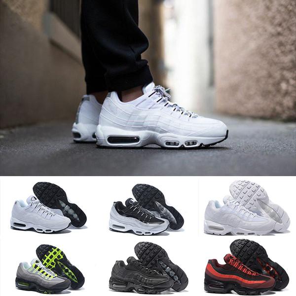 Großhandel Nike Air Max 95 2019 Chaussures OG QS 20th Anniversary 95 Plus Kissen Männer Frauen Ultra Running Schuhe 95er Regenbogen Schwarz Weiß