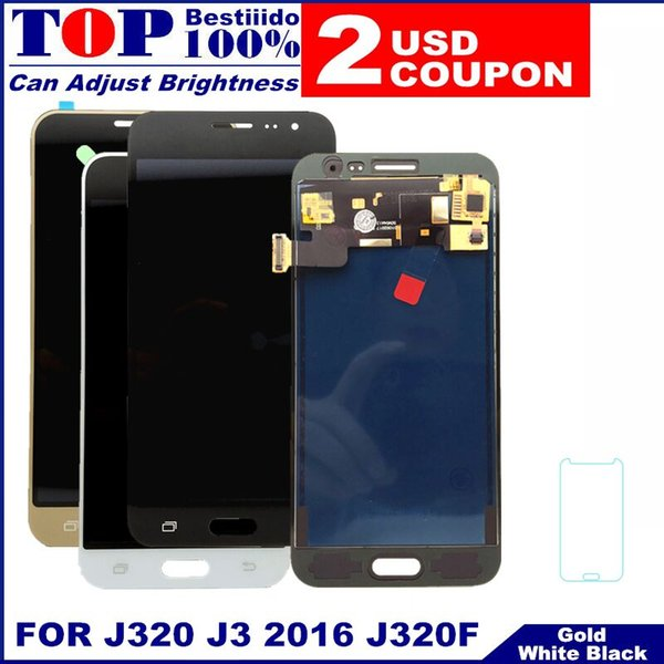 LCD Replacement For Samsung Galaxy J3 2016 J320 J320F J320H LCD Display Touch Screen Digitizer Assembly with Brightness Control