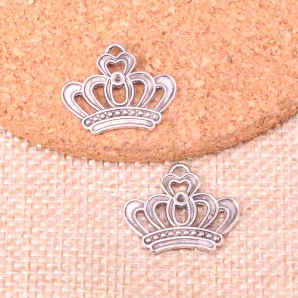 75 adet Antik Gümüş Kaplama emperyal kraliyet taç Charms Kolye fit Yapma Bilezik Kolye Takı Bulguları Takı Diy Zanaat 22 * 18mm