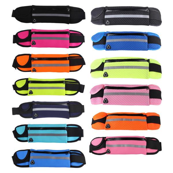 Universal Sports Waist Pack Running Sac pour poche de téléphone portable 4inch à 6inch Hydratation Ceinture bourse
