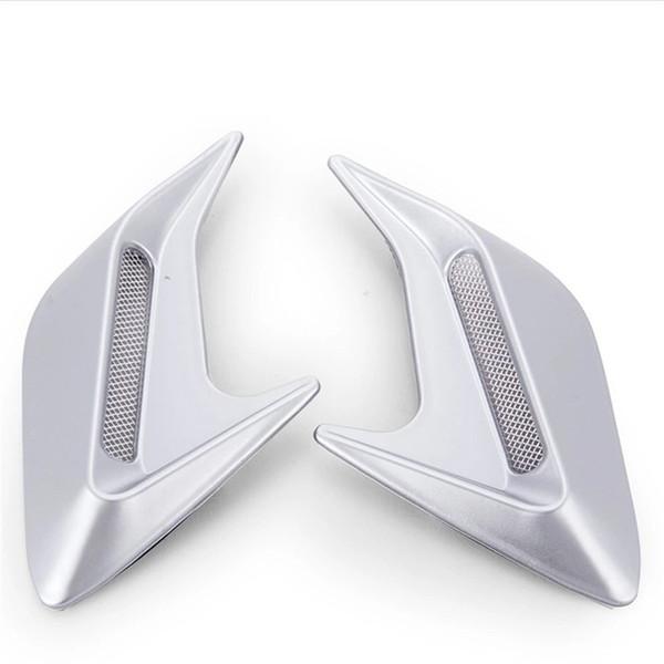 Anti-true side air outlet false leaf carbon fiber anti-real car vent car shark vents universal yentl