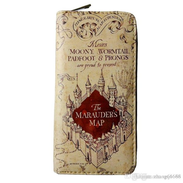 Harry Potter Wallet Map Wallets Men Women Money bag pocket Women Card Holder carteira mltifunction