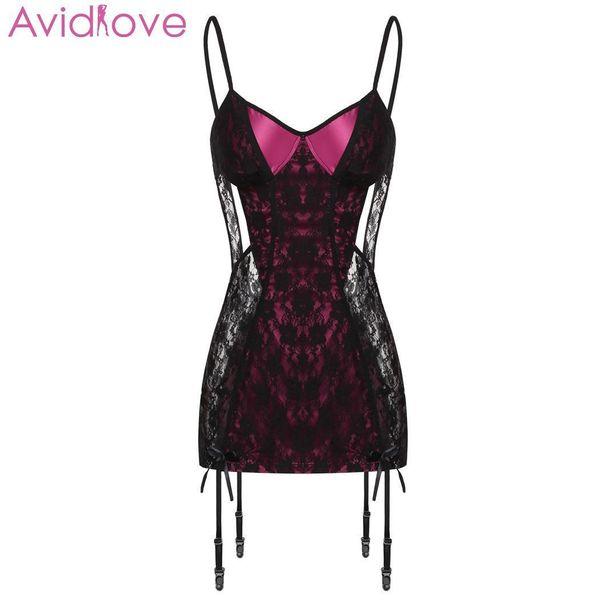 Avidlove Women Sexy Lingerie Lace Plus Size Sex Underwear Babydoll Chemise Porno Dress Summer Hot Erotic Lingerie Sexy Costumes J190614