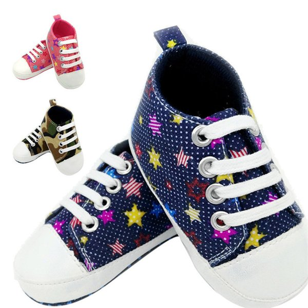 Baby Shoes Sneaker Anti-slip Soft Sole Toddler Colorful Canvas Shoes NDA84L17