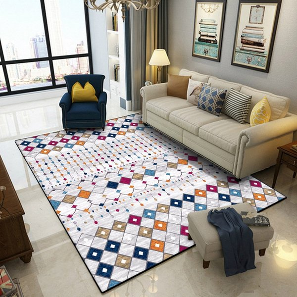 Turkey Style Area Rugs Living Room Bedroom Bedside Decor Rug Carpets  Colorful Geometric Tapete Coffee Table Non Slip Floor Mats Office Carpet  Prices ...