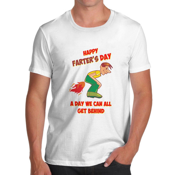 Men's Happy Farters Day A Day We Can Get Behind Funny T-Shirt Short Sleeve Plus Size t-shirt jersey Print t-shirt