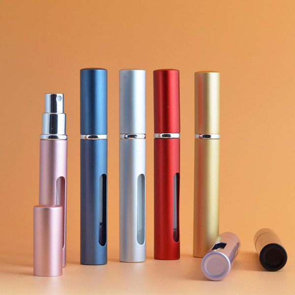 Mini bottiglia di profumo del sub-flacone della bottiglia di profumo del profumo 5ml bottiglia di spruzzo del sub-flacone di viaggio del tubo del tubo di alluminio portatile di viaggio
