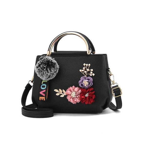 Nice Autumn New Womens Bag Handbag Fashion Simple Flap Single Shoulder Oblique Satchel For Women Zipper Pendant Floral Bag