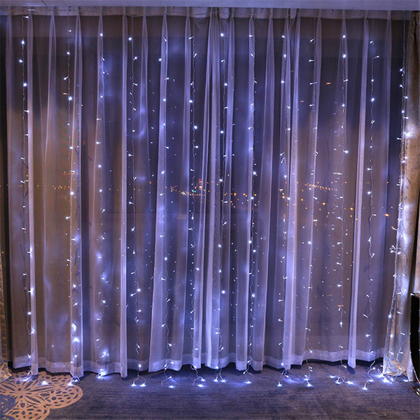 Tenda Led String Lights Natale natale Fairy Lights 4M x 4M 512 LED Icicle Decorazione Lampada per matrimonio / festa / tenda / giardino 110V US