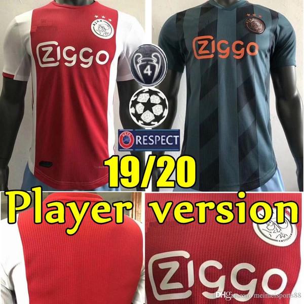 Versioni Ajax Jersey di calcio 2019 2020 # 7 Neres Ajax camicia di calcio 19 20 # 10 # TADIC 4 DE Ligt # 22 uniformi di gioco ZIYECH