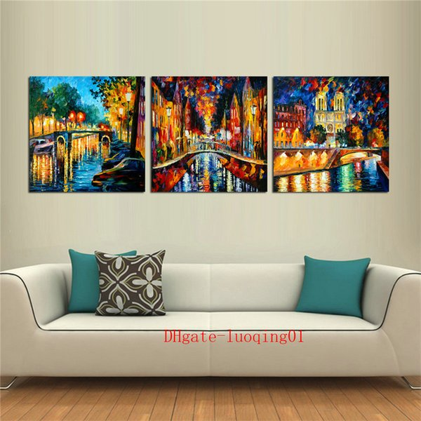 River Stone Bridge , 3P Canvas Pieces Home Decor HD Printed Modern Art Painting on Canvas (Unframed/Framed)