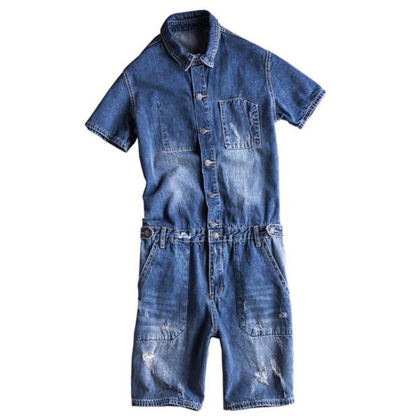 Tute per uomo maniche corte in denim a maniche corte T-shirt casual per stampe estive Shorts Jeans