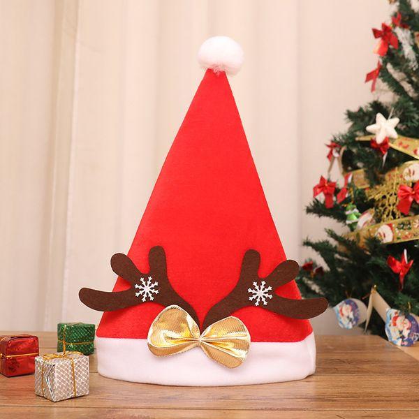 Natal Cosplay Antler Santa Hat 5 Designs Bowknot Chapéu de Natal Chifres de rena Lantejoulas Chapéu 50 Peças DHL