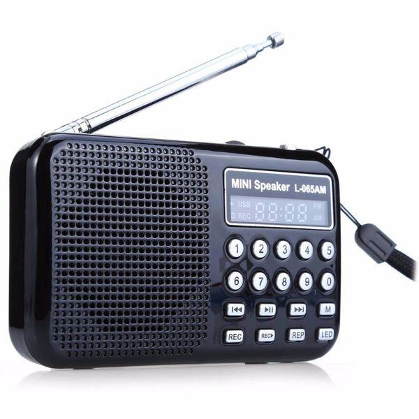 portable radio recorder LEORY LED Digital AM/FM Radio Voice Recorder Speaker Portable Rechargeable USB TF With Mp3 Player LED Flashlight