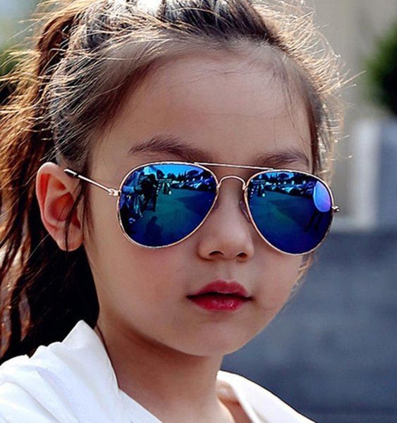 LongKeeper New Fashion Boys Girls Kids Sunglasses Brand Design Retro Cute Pilot Sun Glasses Children Oculos De Sol Gafas UV400
