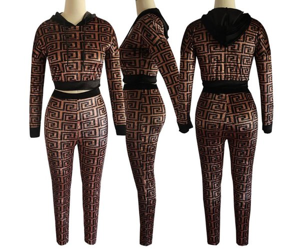 19ss justin bieber Women's hoodie Clothing Thread Sexy Self-cultivation sportswear nightclub clothing Two piece suit Brand Designer