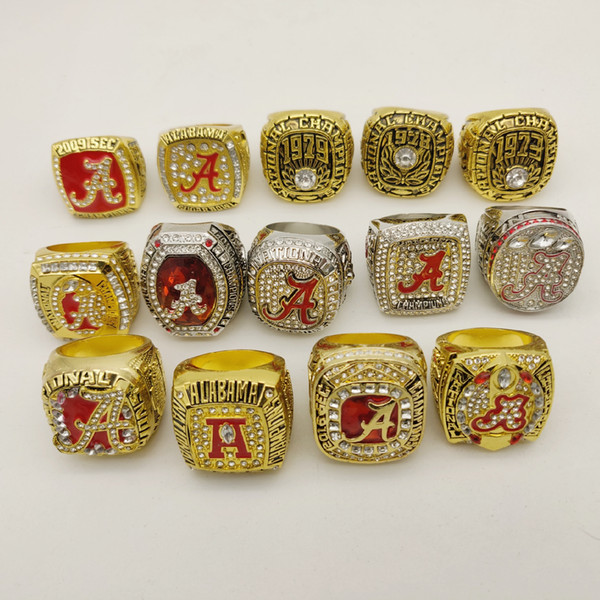 2019 wholesale 14piece/set ALABAMA CRIMSON TIDE NATIONAL CHAMPIONSHIP RING TideHoliday gifts for friends
