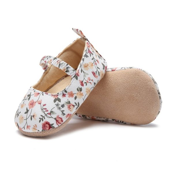 baby shoes girls cute floral soft cotton bottom baby princess shoes first toddler for 0-18M