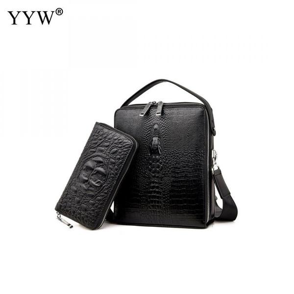 Men Cut-Resistant Briefcase Business Male Pu Leather Handbag Portfolio Tote Bags A Case For Documents Shoulder Bag 2pcs