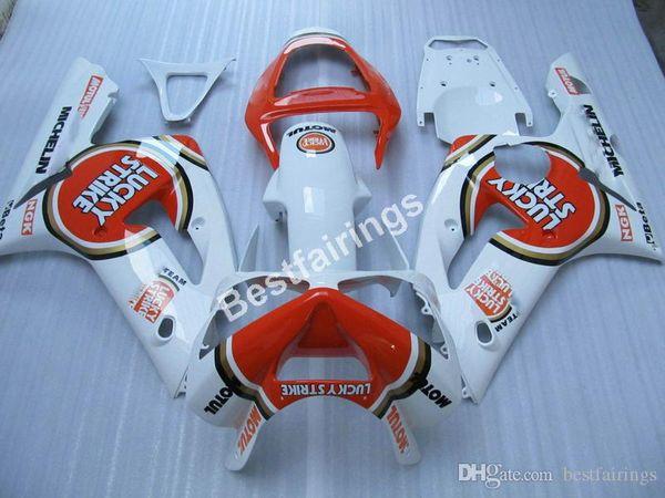 Injection molding fairing kit for Kawasaki Ninja 636 ZX6R 03 04 white red bodywork fairings kits ZX6R 2003 2004 MT38