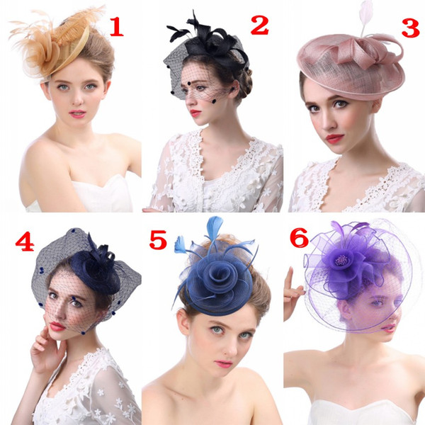 best selling European And American Party Formal Women Hats For Wedding Party Evening Special Occasion Formal Ladies Bridal Hats Accessories CPA1920-26