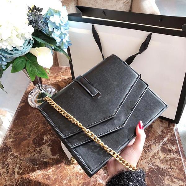 Bolso de dama de la moda bolso cruzado cuerpo diseñador de la cadena solo bolso de hombro dama simple elegante remache bolsa de compras por mayor