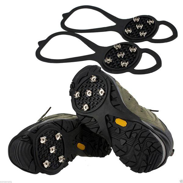 1 Pair Spike Shoe Anti Slip Ice Grip Outdoor 5-teeth Anti-Slip Snow Mountain Climbing Hiking Practical Grip Spike Shoes Crampon