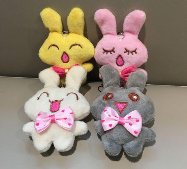 4Colors , Mini 9CM Rabbit Plush Stuffed animal TOY DOLL , Key chain gift Pendant rabbits Plush TOY DOLL