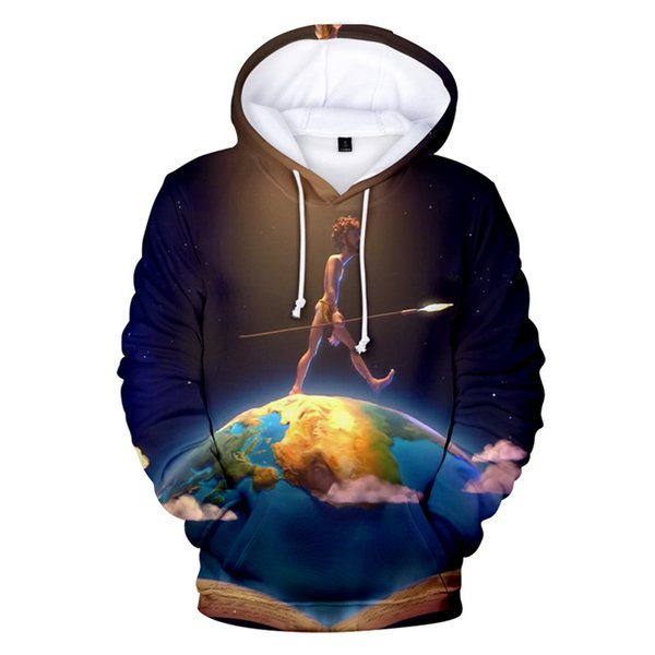 Hip Hop Singer Lil Dicky Print Mens Hoodies Plus Size Pullover Sweatshirt Long Sleeve Couple Clothing