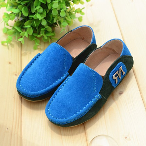 New Arrival Children Flats Genuine Leather Loafers Soft Comfortable Boys Girls shoes Casual Boat shoes 02B