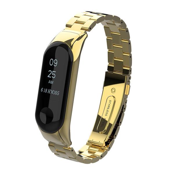 2019 Watchbands Luxury Stainless Steel Wrist Strap Metal Wristband For Xiaomi Mi Band 3 Watch Fashion Casual Women Watch Belts
