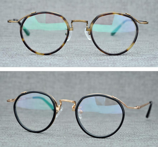 Brand Men Eyeglasses Frames Myopia Optical Glasses Frame Women Vintage Round Spectacle Frames Glasses for Prescription Glass with Box