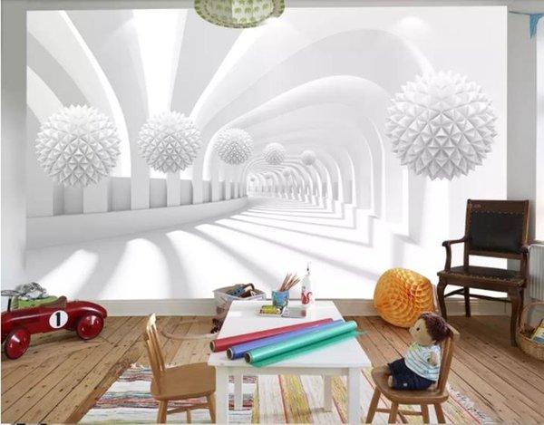 Grosshandel Dekoration Hause Benutzerdefinierte 3d Wallpaper Weiss
