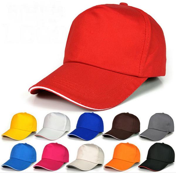 22 Colors Plain Cotton Baseball Caps Adjustable Snapbacks Headwear Custom Printing Embroidery Logo For Adults Cheap Sports Hats Sun Visor
