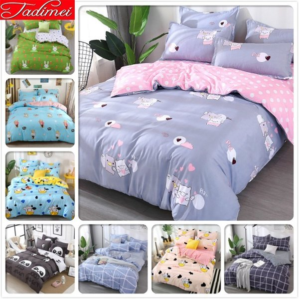 Adult Kids Child 3/4 Pcs Bedding Set Soft Cotton Bed Linen New Fashion Bedspreads Quilt Duvet Cover Single Full Queen King Size
