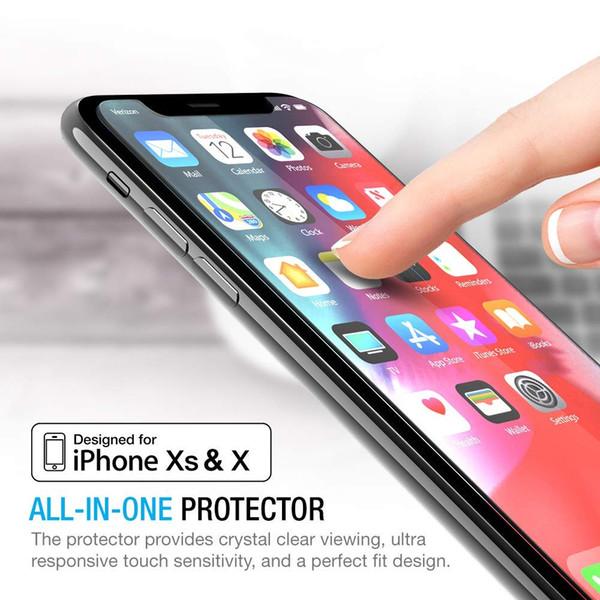 2 X nuevo frontal transparente Apple iPhone XS Lámina Film Protector de Pantalla LCD