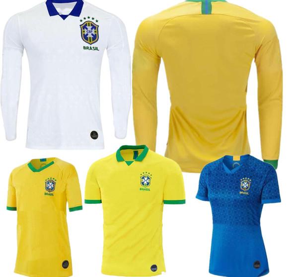 Чемпионат мира по футболу Brasil 2019 футболка женская MARCELO девочка малышка молодежная футболка G.JESUS P.COUTINHO FIRMINO 19 20 Длинный рукав