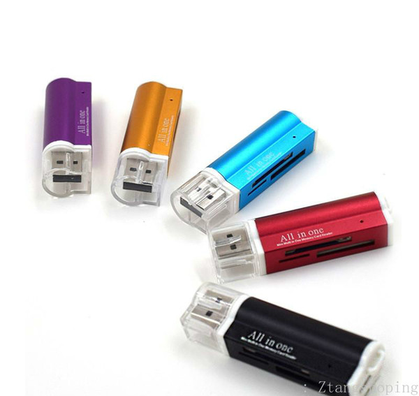 USB 2.0 ALL in One Memory Card Reader for Micro SD//MMC//SDHC//Micro TF//M2//MS