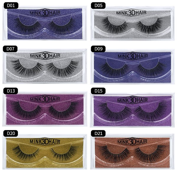 3D Mink eyelashes Multi-layer Thick curl Soft mink False Lashes Eyes makeup High quality Free shipping