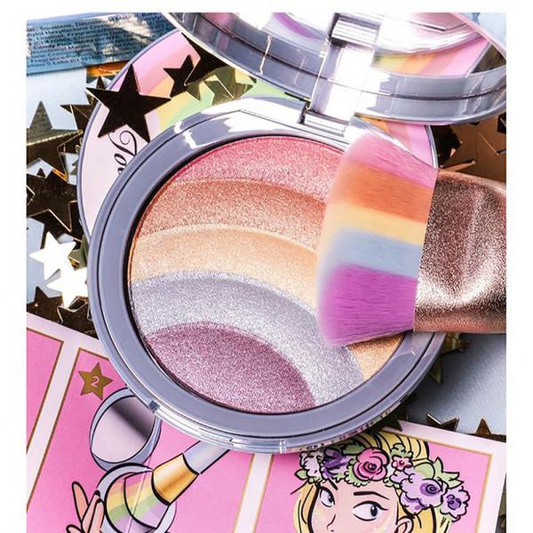 5 Farben Gesicht Festival Rainbow Strobe Textmarker Makeup Coutour Paletten 8g Highlight Bronzer Iluminador Makeup Kit