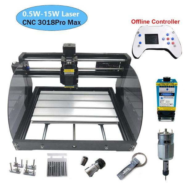 3018 Pro Max machine de gravure laser Puissance 0.5W-15W de routeur CNC bricolage MINI Travail du bois Laser Engraver avec le contrôleur hors ligne