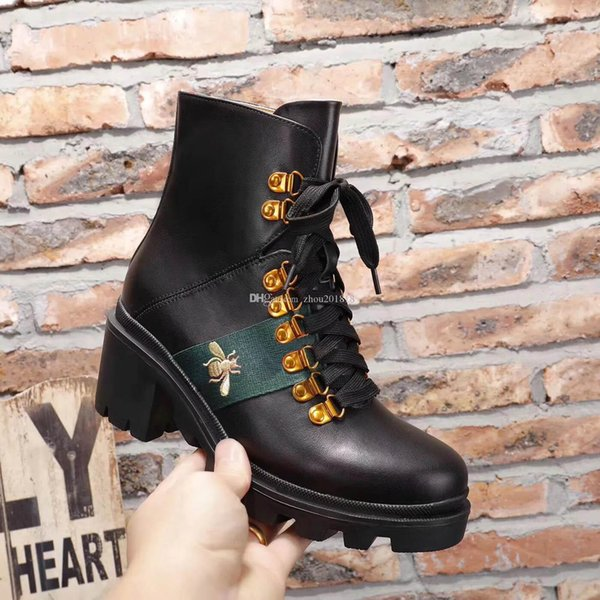 2019 New Quality Girls Fashion Thick Half Boots Women\u0027S Genuine Leather  Black Cool Boot School Girls Casual Ankle White Flat Boots 39 40G41  Leather