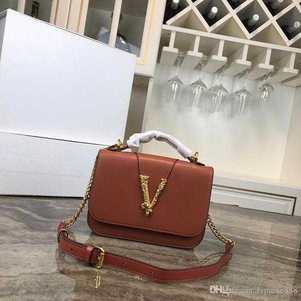 diseñador de lujo bolso monedero correa de cadena Medusa bolso de mujer bolsos de moda hombro crossbody mujeres diseñador V monederos bolso de cuero real