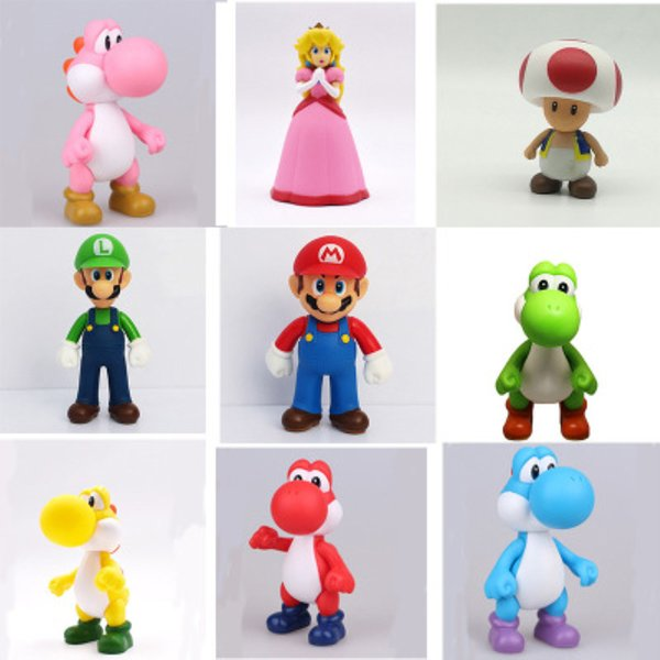 3D Cute Super Mario Resin Fridge for Kids Home Decoration Postbox Toys Cartoon Game Mario Luigi Yoshi Princess Action Anime Figure Gift