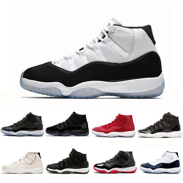 Nike Air Jordan 11 Горячая распродажа бесплатная доставка 2019 марка J11 Мужчины Пром Ночь Победа, Как Обувь Bred Space Jam Скидка Мужчины Женщины Бароны Space Jam Concords