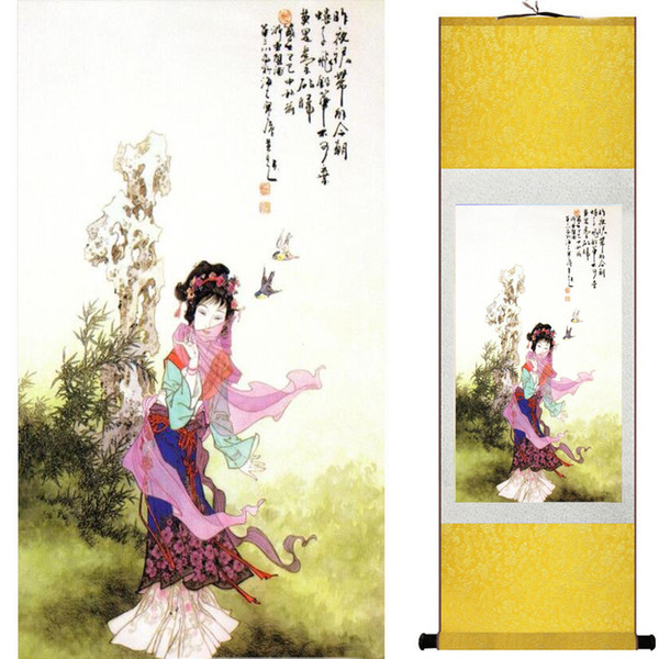 Güzel kız boyama Çin Sanatı Resim Ev Ofis Dekorasyon Çin sanatı şekil 2019072620
