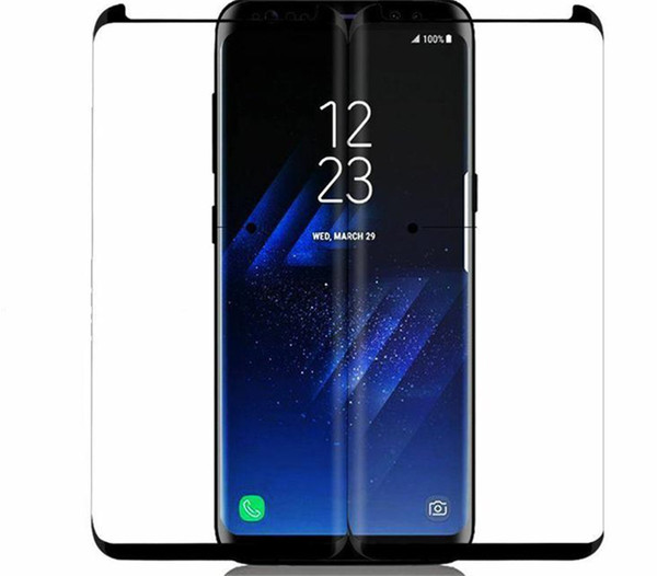 best selling For Samsung Galaxy S10 S8 S9 Note 10 Plus Note 8 9 Screen Protector 9H 3D Curved Glass Protective Tempered Glass Friendly Case