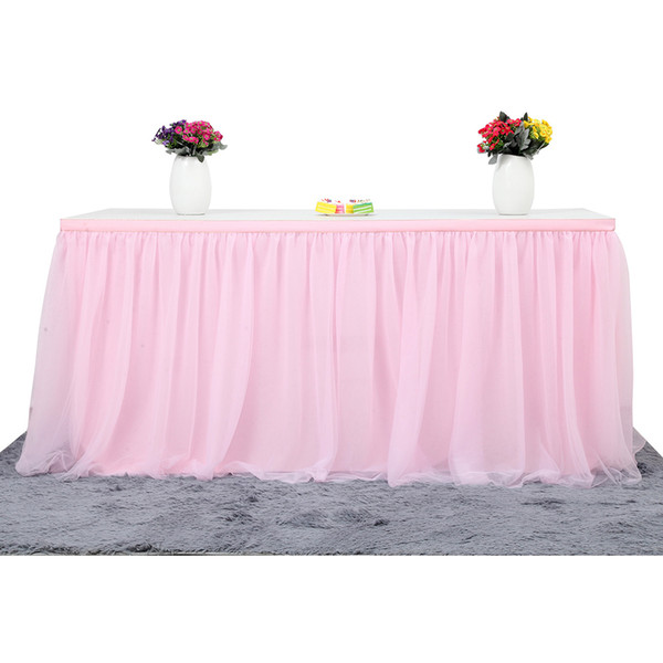 MultiColor Table Skirt Tableware Cloth Wedding Tutu Tulle Table Skirt Baby Shower Party Home Decor Skirting Birthday Party
