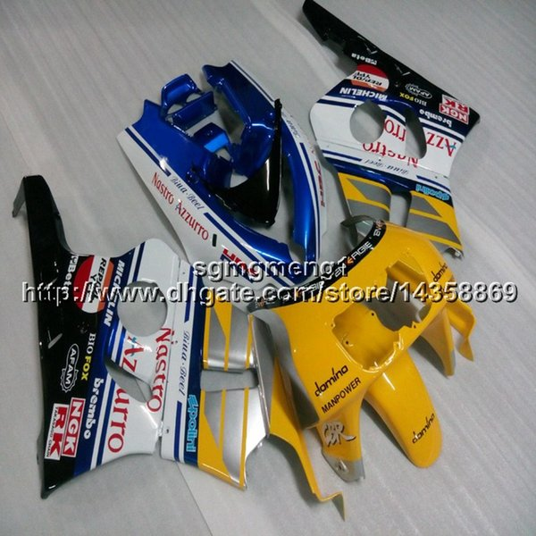 23colors+Botls yellow blue white motorcycle article for HONDA CBR400RR NC29 1990 1991 1992 1993 1994 ABS motorcycle Fairings hull