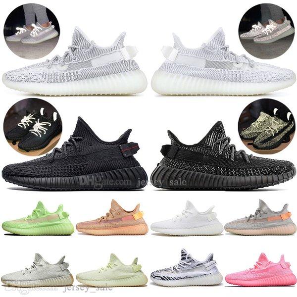 Оптовая Kanye West Clay V2 статические светоотражающие gid светятся в темноте мужские кроссовки истинная форма женщины мужчины спортивный дизайнер кроссовки на открытом воздухе